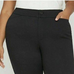 Universal Capris Pants 34W Black Career Pockets